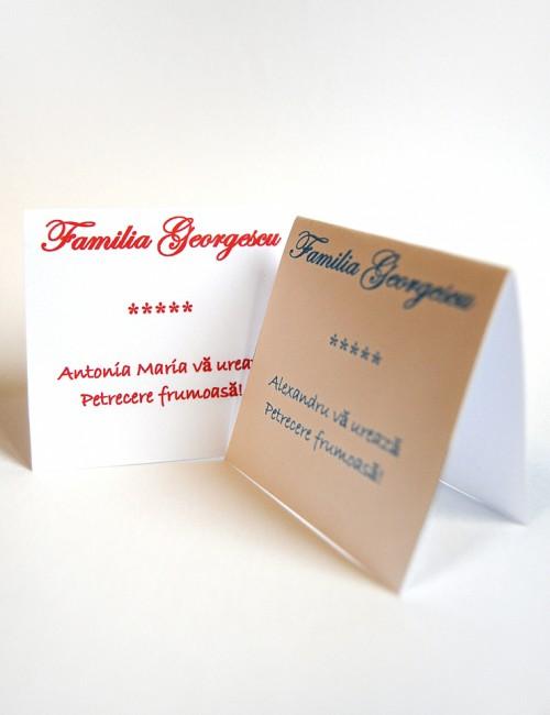 Card de masa pentru botez