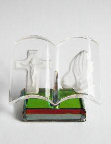Marturie botez iconita dubla din sticla
