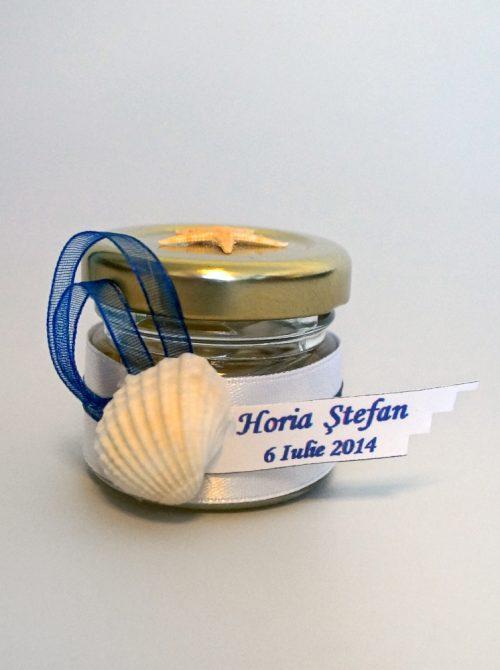Marturie botez borcanel cu miere cu accesorii marine
