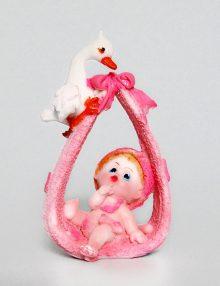 Marturie botez bebe cu barza roz