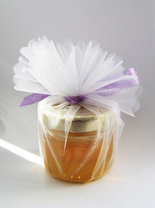 Marturie botez borcanel cu miere in saculet cu fluture 3