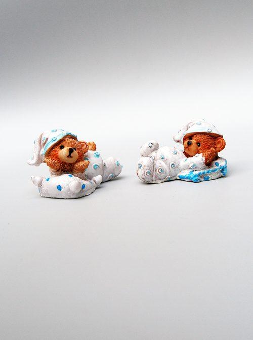 Marturie botez ursulet bleu din ceramica 1