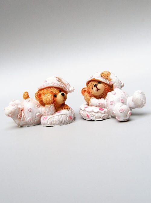 Marturie botez ursulet roz ceramica 1