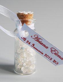 Marturie nunta sticluta cu cristale de stanca