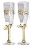 Set pahare miri cu snur auriu
