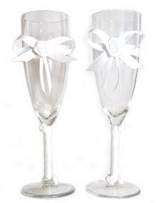 Set pahare miri cu accesorii albe