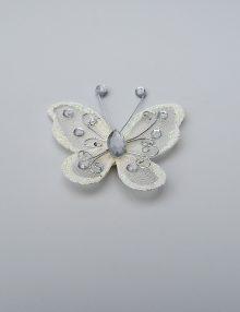 Fluture crem mediu pentru decor