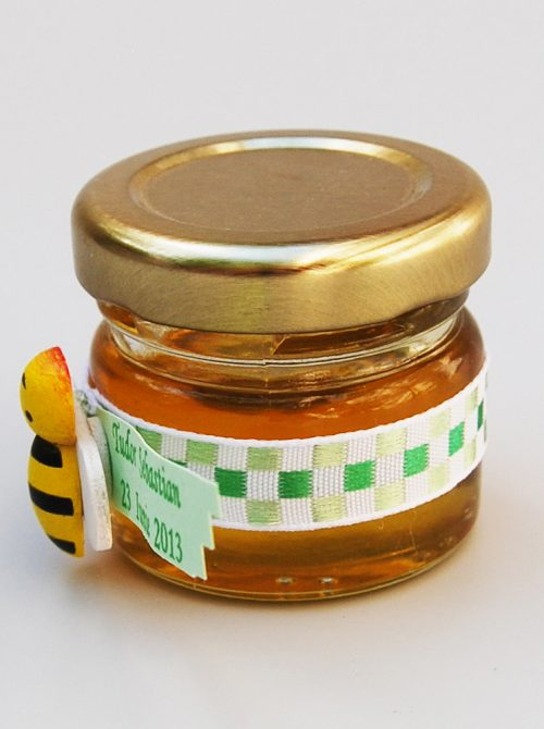 Marturie botez borcanel miere cu albinuta 1