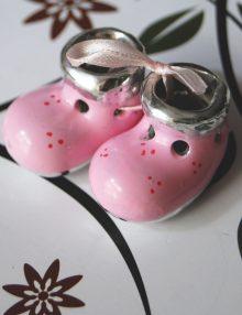 Marturii botez botosei roz din ceramica