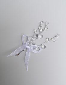 Cocarde nunta cristale albe