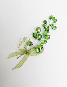 Cocarde nunta cristale verzi