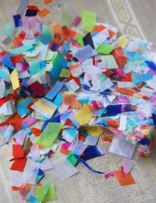 Decor confetti colorat