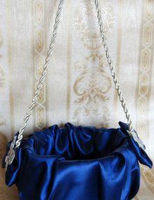 Cos cruciulite cu decor bleumarin