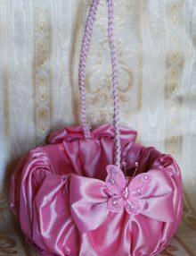 Cosulet cruciulite cu decor roz