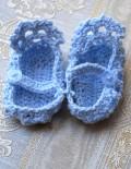 Marturie botez botosei bleu crosetati