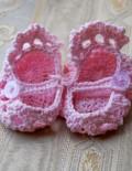 Marturie botez botosei roz crosetati