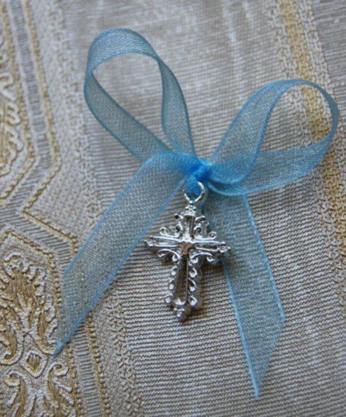 Cruciulite botez mici cu margini stilizate 4