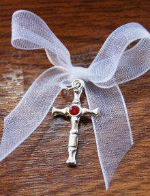 Cruciulite botez cu pietricica rosie