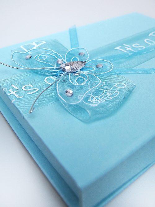 Cutie pentru cruciulite botez bleu 1