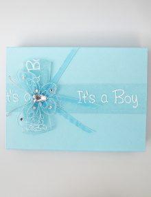 Cutie pentru cruciulite botez bleu