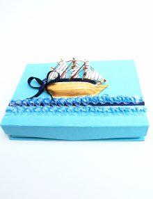 Cutie pentru cruciulite botez cu vaporas