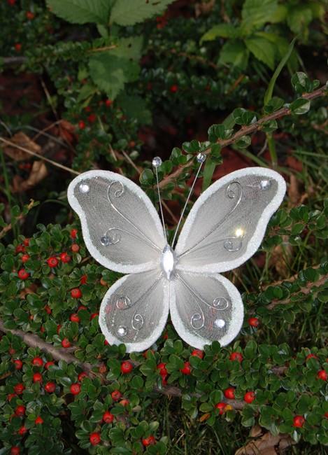 Fluture mare crem pentru decor