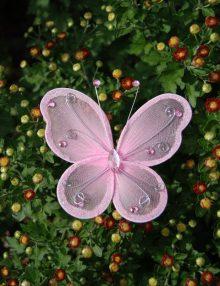 Fluture mare roz pentru decor