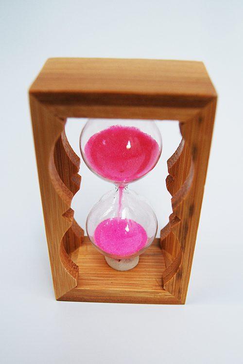 Marturie botez clepsidra cu nisip roz 1