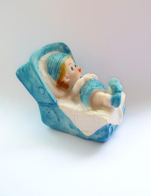 Figurina tort botez bebe bleu
