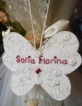 Accesoriu fluture personalizat pentru lumanare botez