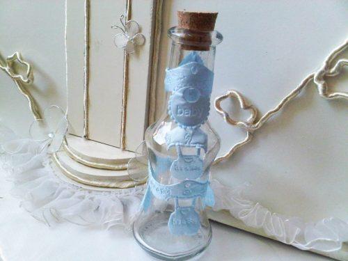 Sticla mir cu decor bleu