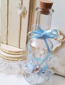 Sticla mir cu fluture bleu