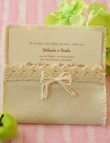 "Invitatie de nunta tematica ""Macrame""-colectia Image Group"