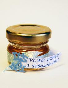 Marturie botez borcanel cu miere It's a boy bleu