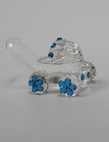 Marturie botez carucior sticla cu bleu