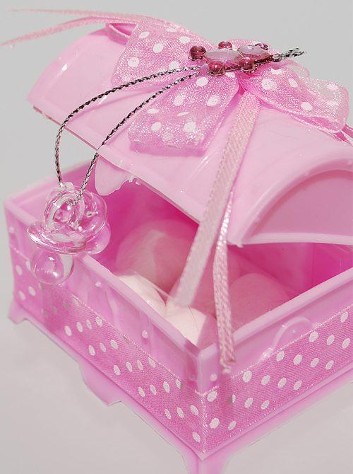 Marturie botez cufar roz cu suzete 1