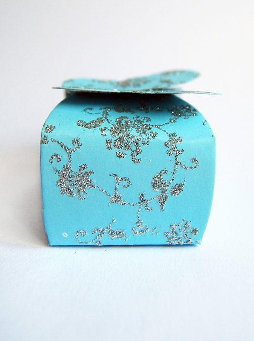 Marturie botez cutiuta bleu cu fluture 2