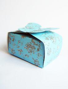 Marturie botez cutiuta bleu cu fluture