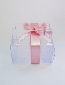 Marturie botez cutiuta cu suzeta roz
