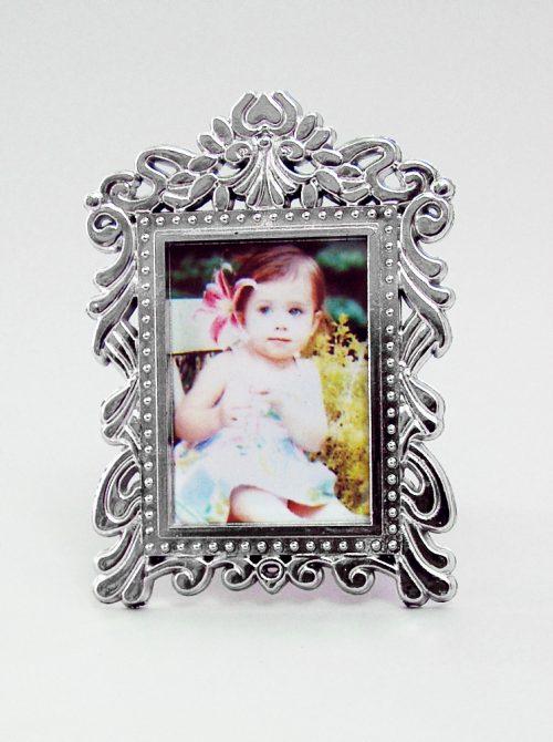Marturie botez rama foto argintie cu magnet 2