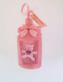 Marturie botez saculet biberon roz