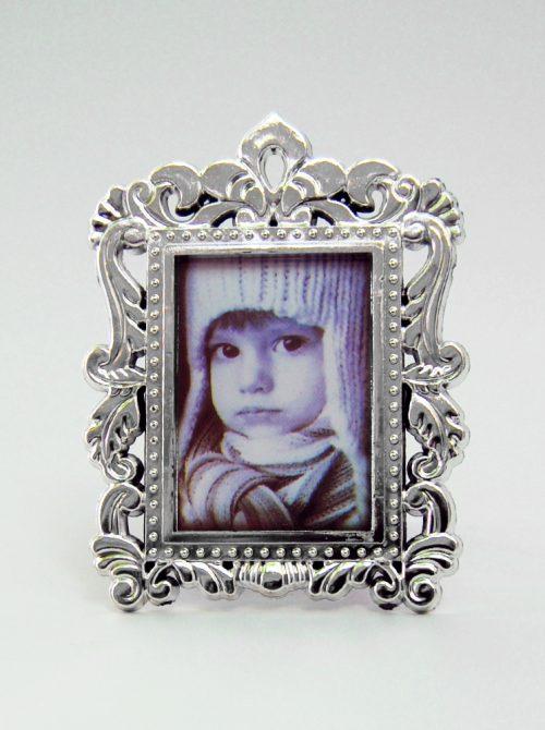 Marturie nunta rama foto argintie cu magnet 1