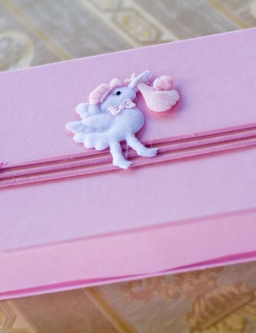Cutie roz  pentru cruciulite cu barza