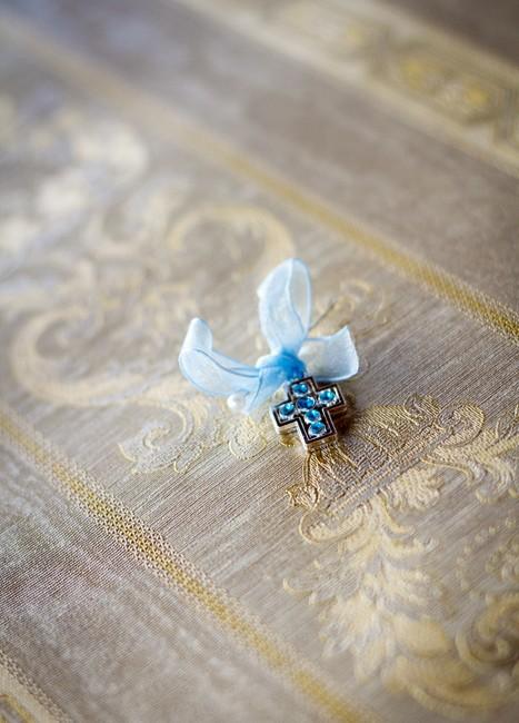 Cruciulite botez baieti cu pietricele bleu