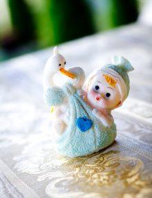Marturii botez bebe cu barza bleu