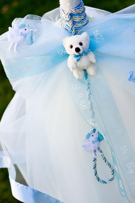 Lumanare botez cu accesorii bleu 2
