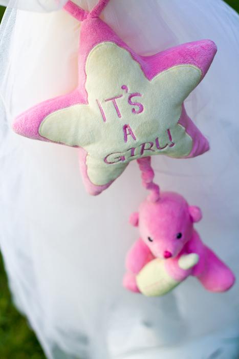Lumanare botez cu jucarie roz 1