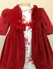 Paltonas botez catifea rosie