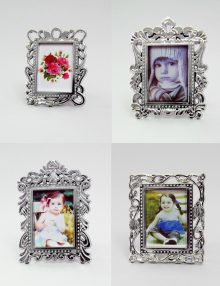 Marturie botez rama foto argintie cu magnet