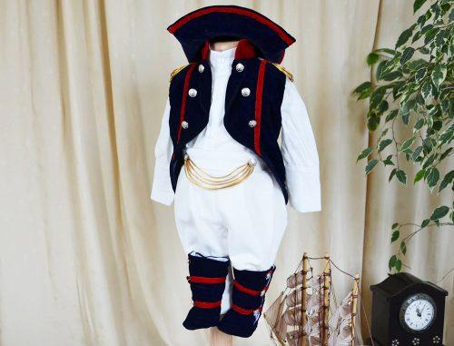 Costumas botez baietel, model Napoleon, 5 piese 1